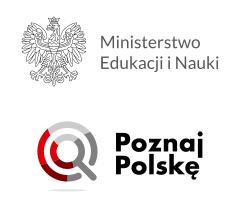 Logo Ministerstwa Edukacji i Nauki oraz Program Poznaj Polskę